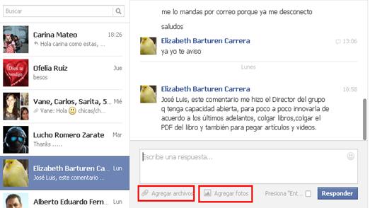 mensajes inbox facebook