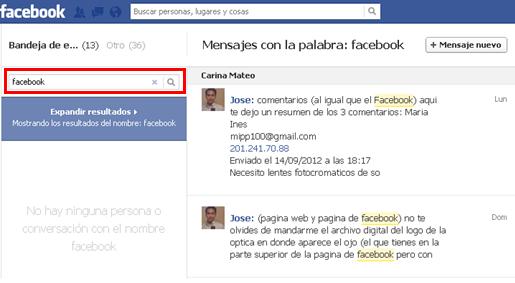 mensajes privados facebook