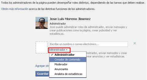 administradores facebook