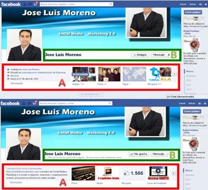 perfil personal y pagina de seguidores