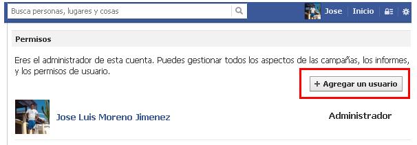 segunda cuenta publicitaria facebook 1