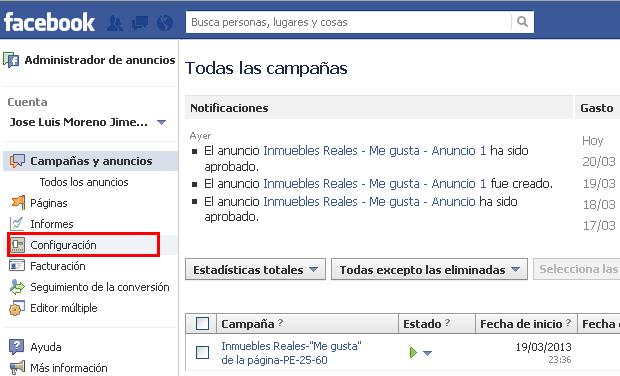 agregar un usuario en facebook ads, configuracion