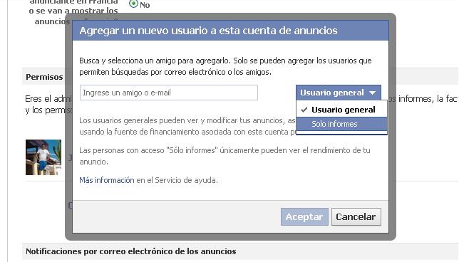 niveles usuario adicional facebook ads
