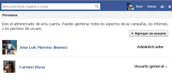 segundo usuario facebook ads