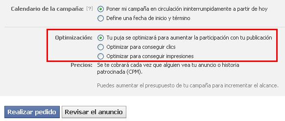 CPM optimizado en Facebook