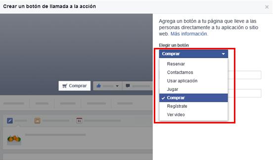 botones llamado accion facebook