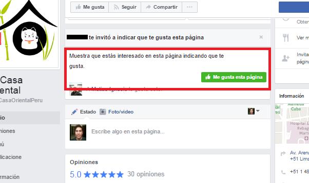 Como sugerir una página de Facebook a nuestros amigos
