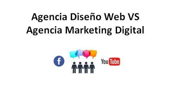 Diferencias entre una agencia de diseño web y una agencia de marketing digital