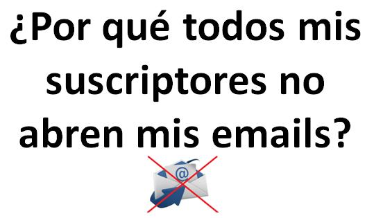 ¿Por qué todos mis suscriptores NO abren mis emails?