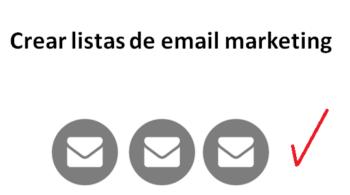 crear listas de email marketing